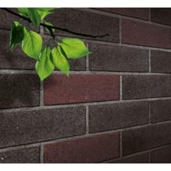 Blockleys Black Mosaic 65mm Wirecut  Extruded Black Light Texture Clay Brick