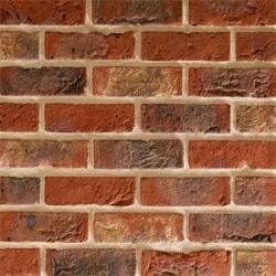 Traditional Brick & Stone Ashworth Medium Multi 65mm Machine Made Stock Red Light Texture Clay Brick