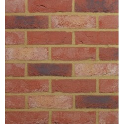 Traditional Desimpel UK Jewel Multi 65mm Machine Made Stock Red Light Texture Clay Brick