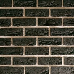 Traditional Brick & Stone City Black 65mm Machine Made Stock Black Heavy Texture Clay Brick